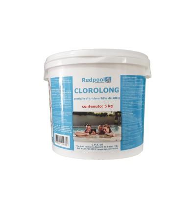 Clorolong pastiglie da 200 g a lenta dissoluzione - confezione da 5 Kg