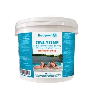 ONLYONE cloro multifunzione, pastiglie da 200g. Conf. da 10 Kg