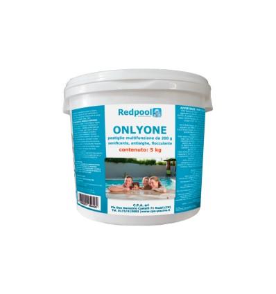 ONLYONE cloro multifunzione, pastiglie da 200g. Conf. da 5 Kg