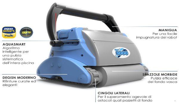 Robot pulitore piscine TRAC 3000